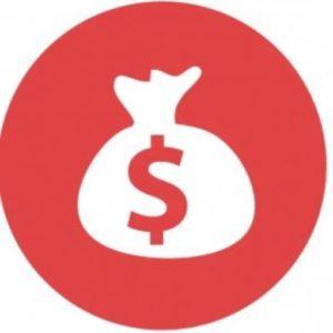 Logo ikonka sakwy z dolarem.