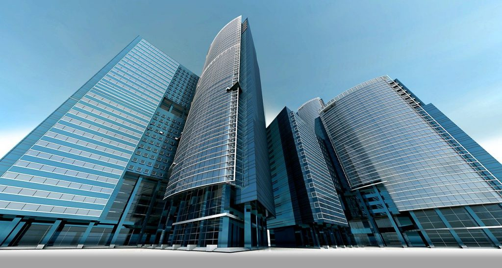 Budynek wieżowiec.